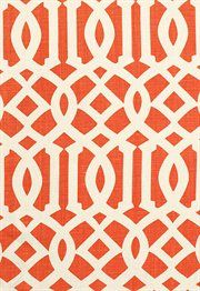 beautiful tangerine trellis pattern!
