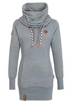 Naketano Women's Sweatshirt Rereorder III (XS, Green Grey Melange)