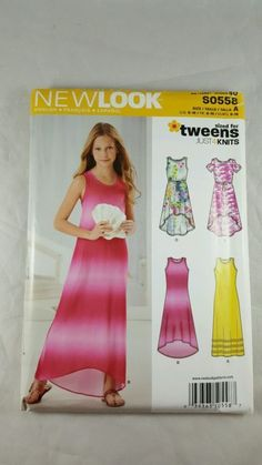 New Look Simplicity Sewing Pattern S0558 Girls Tweens 8-16 Knit Dress Hi-Lo UC - http://collectibles.goshoppins.com/sewing-1930-now/new-look-simplicity-sewing-pattern-s0558-girls-tweens-8-16-knit-dress-hi-lo-uc/