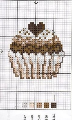 cross stitch - chocolate cupcake