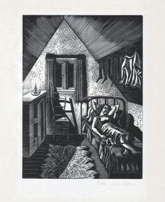 ERIC RAVILIOUS 1930 WOOD ENGRAVING