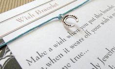 HORSESHOEWish braceletSilver charm by LaBottegaDiViviana on Etsy, €2.30