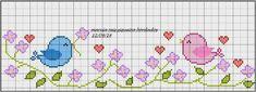 Χειροτεχνήματα: Κεντητές κουβέρτες για μωρά / Cross stitch baby blankets Cross Stitch Bookmarks, Cross Stitch Bird, Beaded Cross Stitch, Cross Stitch Borders, Crochet Cross, Modern Cross Stitch Patterns, Cross Stitch Flowers, Cross Stitch Charts, Cross Stitch Designs