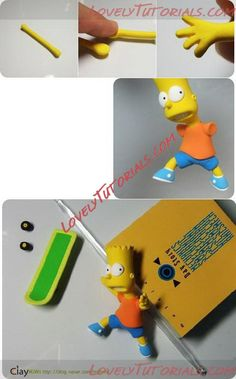 МК лепка Симпсоны -Gumpaste (fondant) The Simpson family characters tutorials… The Simpsons Theme, Simpsons Cake, Cake Topper Tutorial, Cake Toppers, Bart Simpson, Lovely Tutorials, Fondant Figures, Cake Decorating Tutorials, Gum Paste