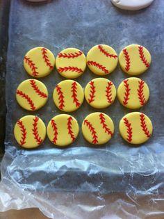 softball fondant - Google Search