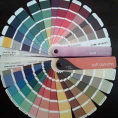 Soft Summer and Soft Autumn palettes, cold and warm colors from soft group of colors