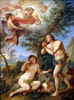 Charles Joseph Natoire (1700 – 1777, French)Adam And Eve - The Expulsion From Paradise