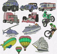 Retrouvez cet article dans ma boutique Etsy https://www.etsy.com/fr/listing/496926032/transport-machine-a-broder-12-dessins-de