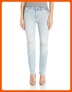 a186b663 J Brand Jeans women's amelia mid rise straight in starstruck destruct. Our  straight mid-rise in a soft-hand comfort-stretch blend. A sky blue wash is  deeply ...