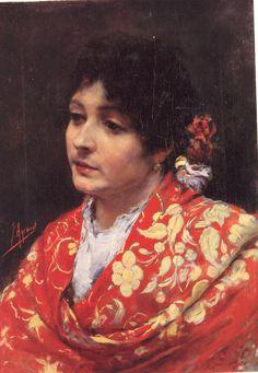 Retrato de gitana. Valencia colección particular- Joaquín Agrasot Juan (Orihuela, 24 de diciembre de 1836 - Valencia, 8 de enero de 1919) fue un pintor español, encuadrado en el género realista y costumbrista.