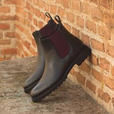 Handcrafted Custom Made Women's Chelsea Boot in Black Painted Full Grain Leather From Robert August. Create your own custom designed shoes. Custom Made Shoes, Custom Design Shoes, Buy Shoes, Men's Shoes, Shoes Men, Dress Shoes, Chelsea Boots Outfit, Slip On Boots, Women's Boots