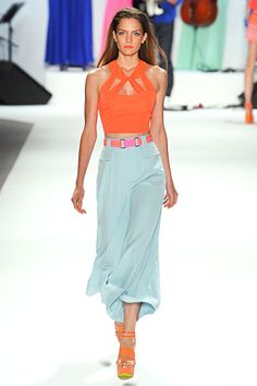 Nanette Lepore »  Spring 2012 RTW » really like the coral/pale blue combo
