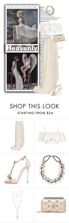 """Heavenly Haute"" by terrelynthomas ❤ liked on Polyvore featuring Vionnet, Topshop, Dsquared2, House of Harlow 1960, Oscar de la Renta and inspiredset"