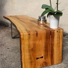timberforgewoodworks Live edge cherry coffee table. We love woodworking.