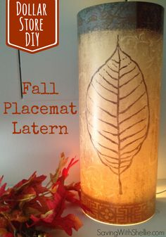 Dollar Store DIY: Grab a placemat from the Dollar Store and turn it into a lantern!