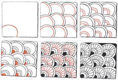 Pix For > Super Easy Zentangle Patterns For Kids Step By Step