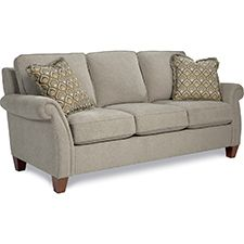 Bree Sofa by La-Z-Boy, fabric color on sofa.  Nickel.  I would do chocolate brown.