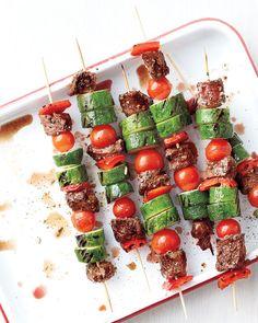 Emeril's Beef and Vegetable Kebabs - Martha Stewart Recipes