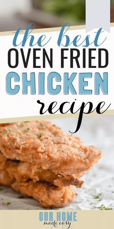 This oven baked fried chicken is super easy to make! It's perfect for so many dinner ideas. Simply shake and bake! Oven Baked Chicken Tenders, Oven Fried Chicken Thighs, Shake N Bake Chicken, Recipes Dinner, Dinner Ideas, Chicken Batter, Fried Chicken Recipes, Roasted Chicken, Fries In The Oven