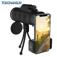122bb9d9103c TOKOHANSUN 40X Zoom Monocular Mobile Phone Telescope 40x60 For Iphone  Huawei Xiaomi Smartphones Camera lenses Outdoor Hunting Review
