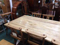 2m oak table top detail.