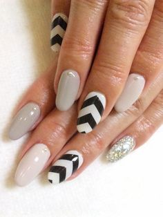 Chevron Nails.!