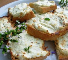 This is a recipe I learned from a group of Italian women from the Tuscany region of Italy.  They teach cooking classes under the name Tutti-a-Tavola.  This is one of my favorite appetizers to make on the run and is always a hit with guests.  You can make up the cheese spread ahead of time and will keep for a couple of days in the refrigerator.  Try to find a french baguette that is crispy on the outside and soft on the inside.