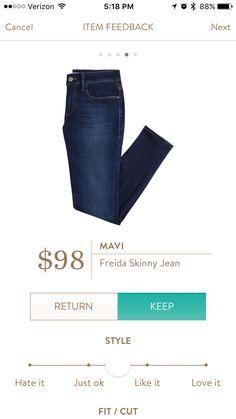 Mavi Frieda Skinny Jean