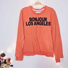 cd36e9cebb05b5 AIKO Giacomo Bonjour Los Angeles Orange Sweatshirt Alessandra Ambrosio Size  S. Alessandra AmbrosioCrew NeckWomen s ...