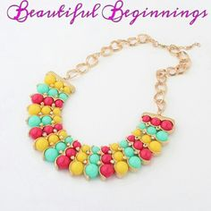 Candy coloured necklace