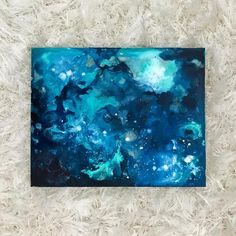 """Experimenting with acrylic inks and isopropyl alcohol and loving the interesting patterns that emerge. Still stuck on my turquoise kick... actually I've been stuck on it my whole life. 😊 8x10"""" gesso wood panel. #alcoholink #abstractpainting #abstractexpressionism #abstractart #abstract #wip #workinprogress #oceanart #oceanlove #oceanwave #water #seascape #oceanwave #blue #bluesea #blueocean #acrylicink #acrylicpainting #acrylicpaint"""