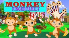 MONKEY Finger Family Nursery clhildren rhymes   Finger family songs kids...