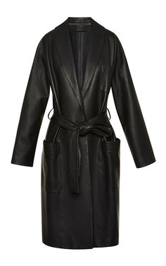 Bathrobe Style Wrap Coat With Tie Belt by Alexander Wang for Preorder on Moda Operandi