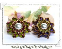 Ewa gyöngyös világa!: Nilla medál minta / Nilla pendant pattern  Edna Karkoto   ewagyongyosvilage.blogspot.com