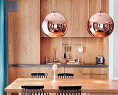 Objetos de diseño en cobre: lámparas de Tom Dixon
