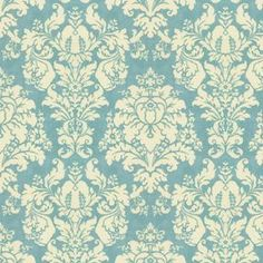 French Blue Damask Fabric | Found on dollhouse-miniature-wallpaper.com