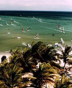 Playa El Yaque en la Isla de Margarita, Venezuela