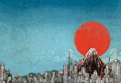 REIMAGINING JAPAN book cover - 2011 | art by YUKO SHIMIZU (清水裕子) ...note: NOT the Yuko who created Hello Kitty | website: http://yukoart.com/
