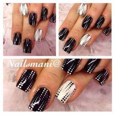 Nailsmani@ #nails #nailart #nailpolish #unghie #blackandwhite