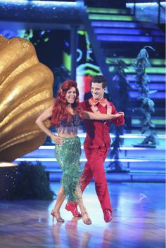 Candace Cameron Bure and Mark Ballas dance a 'Little Mermaid'-themed Samba on week 5 of 'Dancing With The Stars' season 18 -- Disney Night -- on April 14, 2014.
