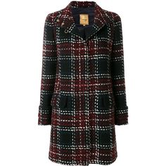 Fay plaid midi coat (8186865 PYG) ❤ liked on Polyvore featuring outerwear, coats, jackets, black, midi coat, calf-length coats, fay coat, tartan coat and plaid coat