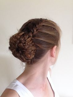 Double French braid into a braided bun :)