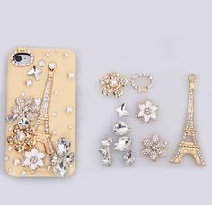 deco bling pink cell phone case