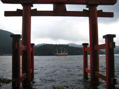 2013.08.05 箱根神社の鳥居。