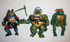 Leonardo Pizza Toss Michelangelo Teenage Mutant Ninja Turtles Action Figures Lot #PlaymatesToys