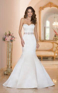 6005 Satin Wedding Dress by Stella York