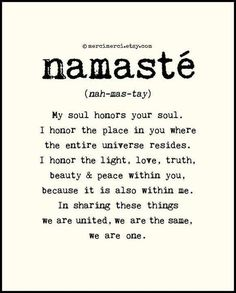 Yoga is such a powerful practice - and the teachings really resonate with us. Finding an inner peace through yoga and meditation will be encourage at Aroha, our community funded wellness retreat. Until we can welcome you in Greece, namaste to you all! The Words, Frases Yoga, Citations Yoga, Mudras, Your Soul, Yoga Quotes, Namaste Quotes, Yoga Sayings, Reiki Quotes