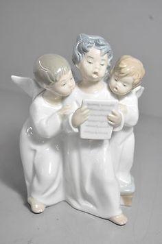 Lladro Three Singing Angel Boys Figurine
