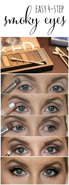 Learn how to get the perfect smoky eye in only 4 easy steps!