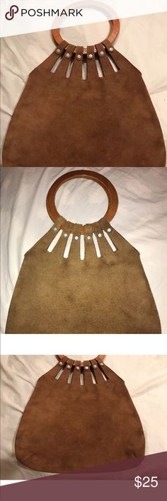 Vintage Boho Suede Hippie Bag Cute purse for fall and winter. Shows normal wear. Xhilaration Bags Totes